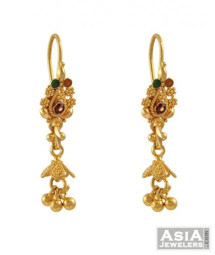 collection jewelry of gold indian fancy earrings