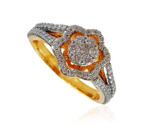 18Kt Gold Diamond Ladies Ring
