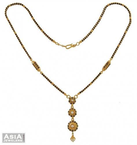 Fancy Mangalsutra (22K Gold) - Ajch53468 - 22K Gold Indian ...