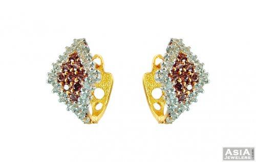 22k Gold Clip On Earrings Ajer58893 Fancy Signity