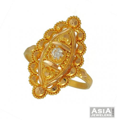 22k yellow Gold La s Ring AjRi 22k yellow gold la s