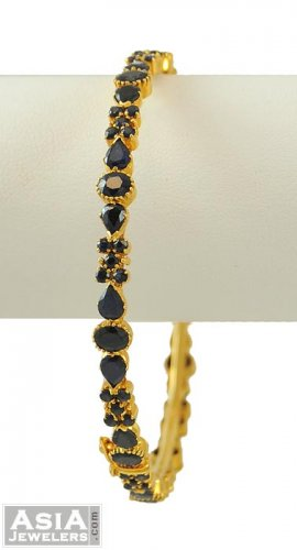 22k Gold Precious Stone Bangle(1pc)