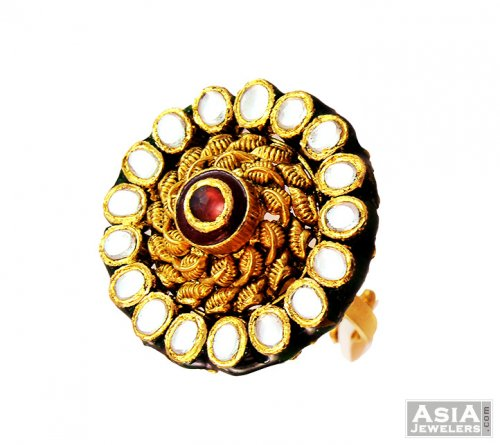 Antique Designer Ring AjRi56855 22k gold designer antique ladies