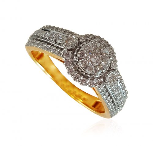 18K Gold Exclusive Diamond Ring