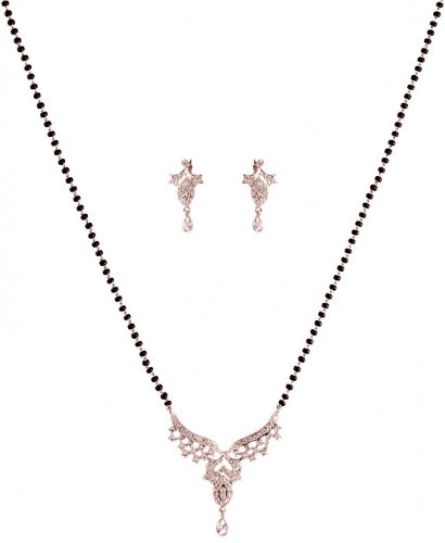 MangalSutra Set 18K White Gold