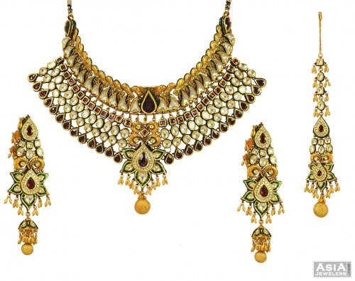 22k Exclusive Kundan Bridal Set (without Tikka)