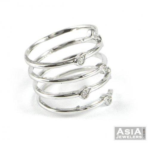 18K Gold Spiral Ring