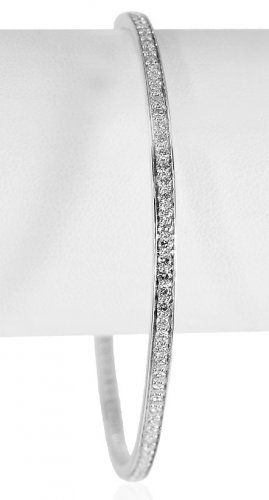 18Kt Gold Diamond Bangle (1 pcs)