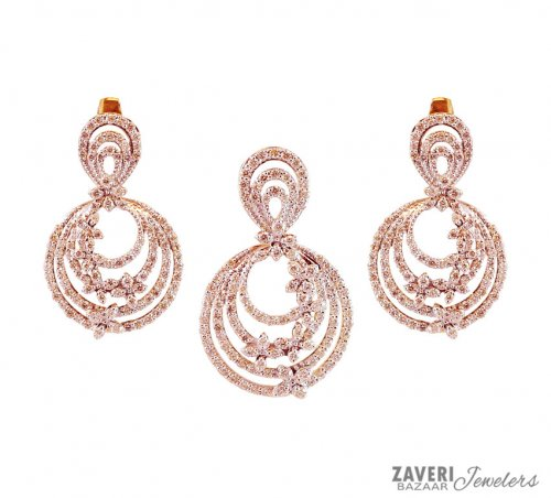 18k Exclusive Diamond Pendant Set