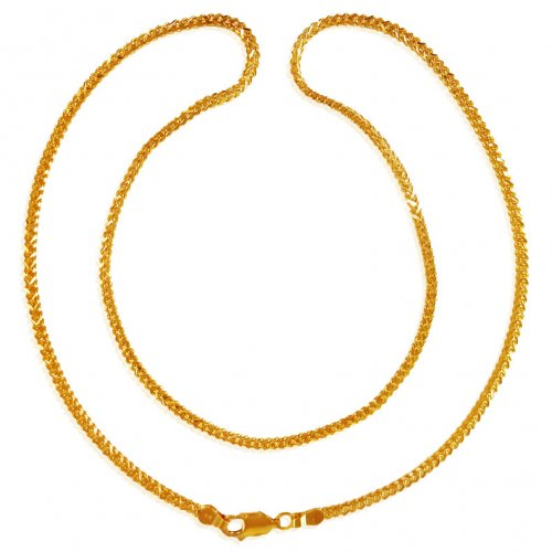 22kt Gold Wheat Chain(18inch)