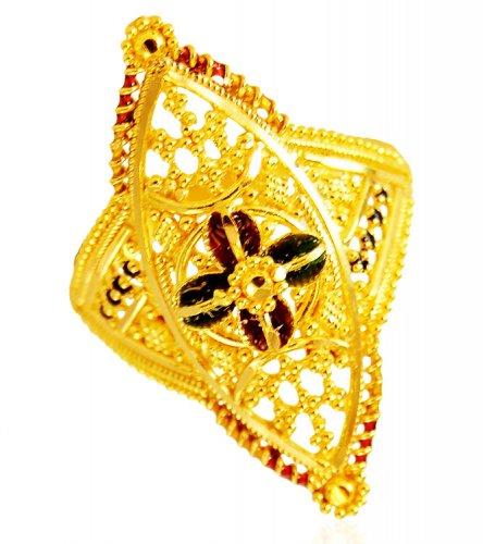 Traditional Meena 22K Gold Ring AjRi US$ 326 22K Gold