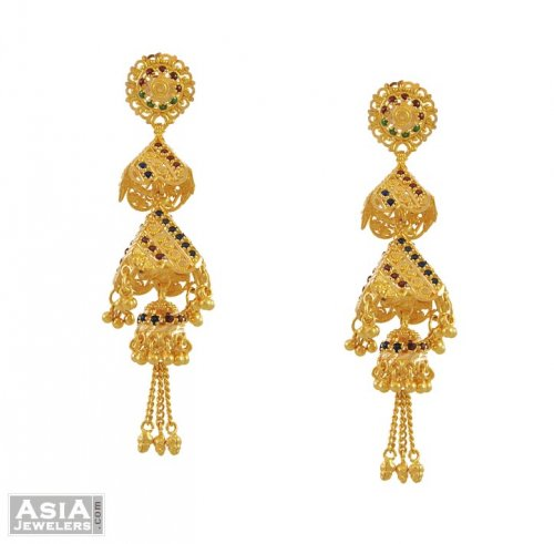 22K Fancy Chandelier Earrings