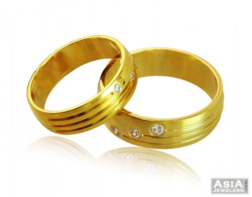 22k His And Hers Matching Ring Sets