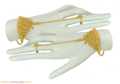 22k Designer Bracelet With Ring AjBr 22k gold la s