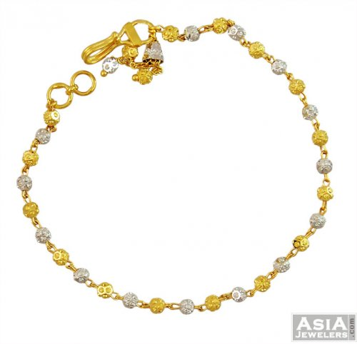 Indian Gold Two Tone Bracelet