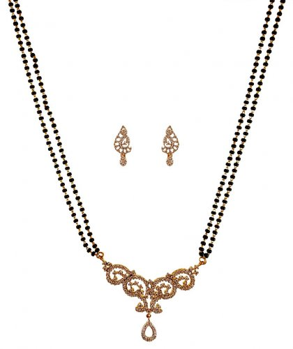 18k Diamond  Mangalsutra Set