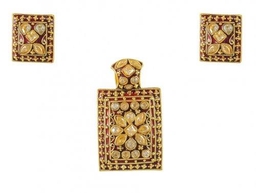 22k antique pendant sets ajps50018 22k gold pendant and earrings 22k antique pendant sets aloadofball Image collections