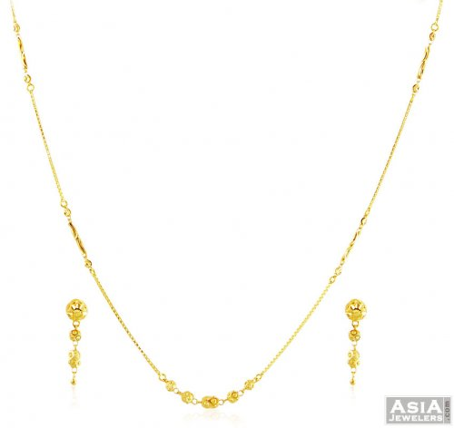 22k Gold Fancy Necklace Set