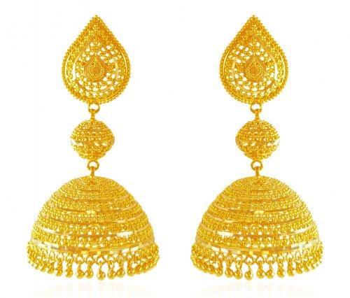 22 Karat Gold Jhumka Ajer61875 Us 1 715 22k Gold