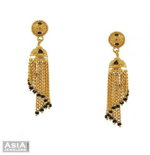 Gold Chandelier Earrings 22K AjEr 22K Gold Chandelier