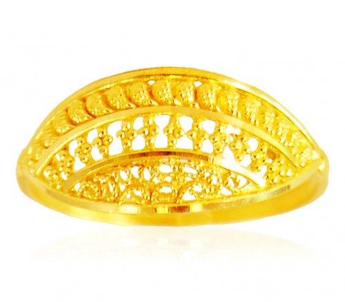 2e26a42983766 22 Karat Gold Ring - ajri62524 - 22K Gold Indian design ring for ...