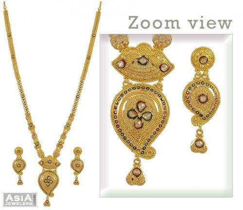 Gold Long Necklace Images Gold Long Necklace Set 22k