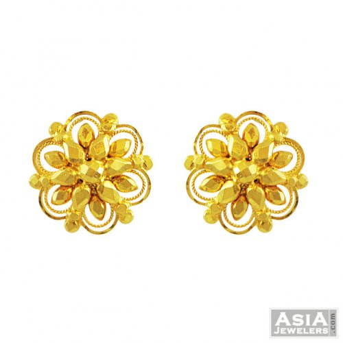 721024199 22k Gold Tops - AjEr55634 - 22K gold tops earrings in nice design ...
