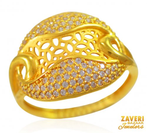 22K Gold Designer Ring