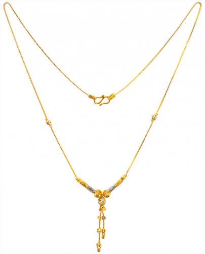 22K Gold Two Tone Chain