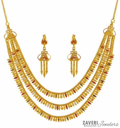 necklace wishes three dogeared dipped cluster gold