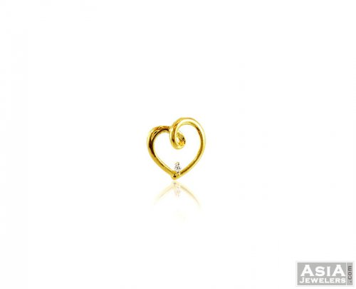 14kt Yellow Gold Heart Pendant