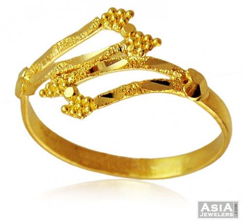4961cc23924fcf 22k Gold Fancy Ladies Ring - AjRi57799 - 22k yellow gold fancy ...