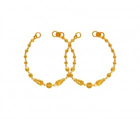 22K Gold Kids Bracelet (2PC) ( Baby Bracelets )
