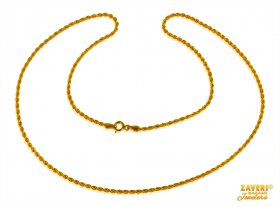 Gold Rope Chain 22 kt 18 Inch ( Plain Gold Chains )