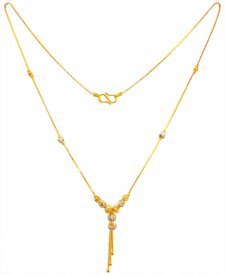 22K Gold Two Tone Chain ( Gold Fancy Chains )