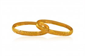 22kGold Fancy Baby Bangles