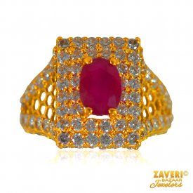 Stunning 22 kt Ruby Ring ( Stone Rings )