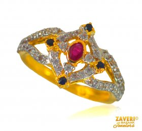 22 kt Gold stone ring ( Stone Rings )