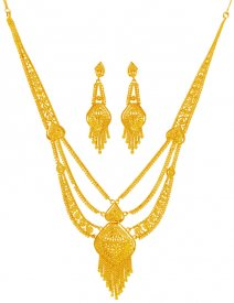 22Karat Gold Long Necklace Set ( 22K Necklace Sets (Long) )
