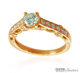 18 K Gold Certified Diamond Ring
