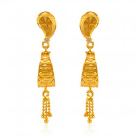 Fancy Gold Earrings 22K