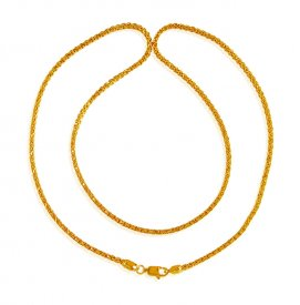 22K Gold Mens Chain 22 In