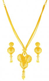 22Kt Gold Layered Chandrahaar ( 22K Necklace Sets (Long) )