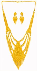 22 Karat Gold Necklace Set ( 22K Gold Necklace Sets )