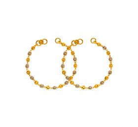 22K Gold Two Tone Maniya (2PC) ( Baby Bracelets )