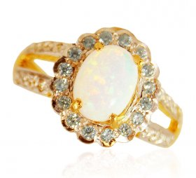 22k Gold Opal  Stone Ring ( Gemstone Rings )