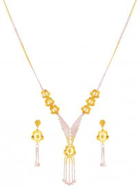 22k Ball Necklace Set ( 22K Light Necklace Sets )