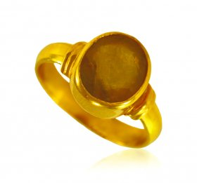 22 KT Gold Yellow Sapphire Ring ( Gemstone Rings )