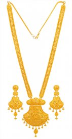 22K Gold Bridal Patta  Set ( 22K Necklace Sets (Long) )