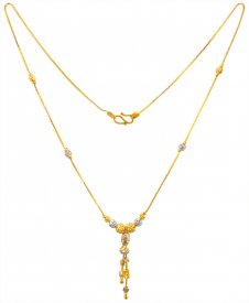 22 Kt Gold Two Tone Chain 16In ( Gold Fancy Chains )